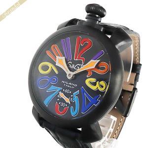 ガガミラノ Gaga Milano メンズ・レディース腕時計 マヌアーレ ブラックPVD 48mm MANUALE 手巻き ブラック 5012.03S [在庫品]|brandol
