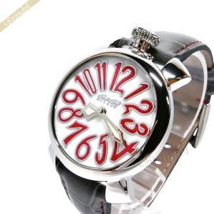 ガガミラノ GaGa MILANO メンズ・レディース 腕時計 マヌアーレ MANUALE 40mm ホワイト×レッド×グレー 5020.10 [在庫品] brandol