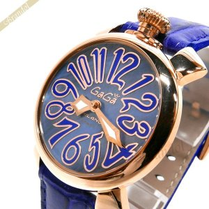 ガガミラノ GaGa MILANO メンズ・レディース 腕時計 マヌアーレ MANUALE 40mm ブルー 5021.7 [在庫品]|brandol