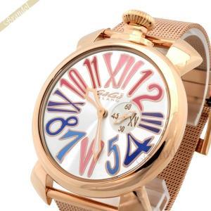 ガガミラノ Gaga Milano メンズ・レディース腕時計 マヌアーレスリム 46mm MANUALE SLIM GOLD PLATE ゴールド 5081.1 [在庫品]|brandol