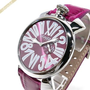 ガガミラノ GaGa MILANO メンズ・レディース 腕時計 マヌアーレスリム MANUALE SLIM 46mm ピンク 5084.6 [在庫品]|brandol