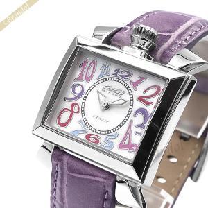 ガガミラノ GaGa Milano レディース 腕時計 ナポレオーネ NAPOLEONE スクエア ホワイト×パープル 6030.7 [在庫品]|brandol
