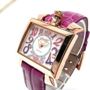 ガガミラノ GaGa Milano レディース 腕時計 ナポレオーネ 18K PVC NAPOLEONE 40mm スクエア ピンク 6031.1|brandol