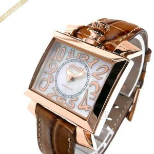 ガガミラノ GaGa Milano レディース 腕時計 ナポレオーネ 18K PVC NAPOLEONE 40mm ホワイト×ブラウン 6031.2 [在庫品]|brandol