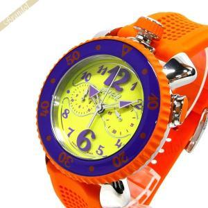 ガガミラノ GaGa Milano メンズ・レディース 腕時計 クロノスポーツ CHRONO SPORTS 46mm イエロー×オレンジ 7010.04|brandol