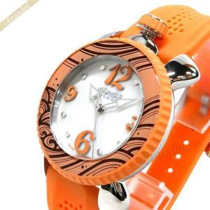 ガガミラノ GaGa Milano レディース 腕時計 LADY SPORTS 39mm ホワイトシェル×オレンジ 7020.05|brandol