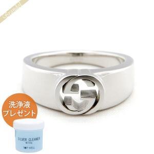 グッチ GUCCI 指輪 インターロッキングG シルバーリング シルバー 374666 J8400 0702 [在庫品]|brandol