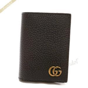 グッチ GUCCI 名刺入れ メンズ GG マーモント レザー カードケース ブラウン 428737 DJ20T 2145 [在庫品]|brandol