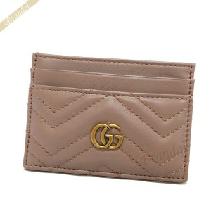 グッチ GUCCI カードケース レディース GG マーモント レザー 定期入れ ベージュ系 443127 DRW1T 5729 [在庫品]|brandol