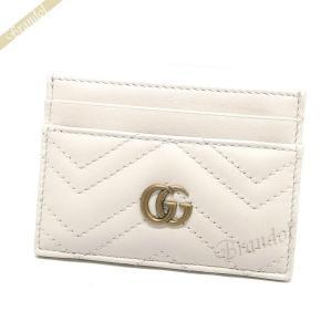 グッチ GUCCI カードケース レディース GG マーモント レザー 定期入れ ホワイト 443127 DRW1T 9022 [在庫品]|brandol