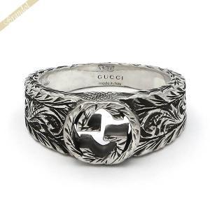グッチ GUCCI 指輪 メンズ・レディース 指輪 インターロッキングG シルバーリング シルバー 455249 J8400 0701 [在庫品]|brandol