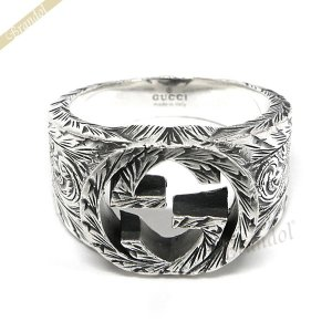 グッチ GUCCI 指輪 メンズ・レディース 指輪 インターロッキングG シルバーリング シルバー 455302 J8400 0811 [在庫品]|brandol