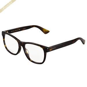 グッチ GUCCI メンズ メガネフレーム ウェリントン型 セルフレーム ブラウン GG0004OA-005 [在庫品]|brandol