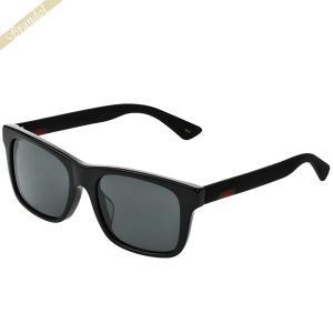 グッチ GUCCI メンズ サングラス スクエア型 グレー×ブラック GG0008SA-001 【2019年春夏新作】 [在庫品]|brandol