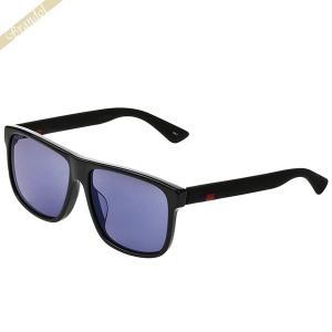 グッチ GUCCI メンズ サングラス スクエア型 ブルーミラー×ブラック GG0010SA-002 【2019年春夏新作】 [在庫品]|brandol