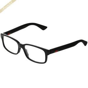 グッチ GUCCI メンズ メガネフレーム スクエア型 ウェブモチーフ ブラック GG0012OA-001 【2019年春夏新作】 [在庫品]|brandol