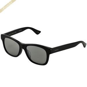 グッチ GUCCI メンズ サングラス ウェリントン型 セルフレーム グレー系×ブラック GG0044SA-005 [在庫品]|brandol