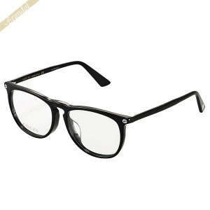 グッチ GUCCI メンズ メガネフレーム ウェリントン型 セルフレーム ブラック GG0120OA-001 [在庫品]|brandol