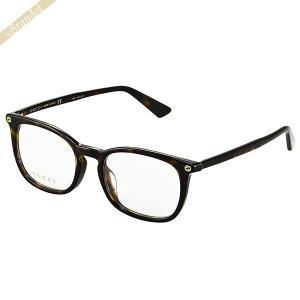 グッチ GUCCI メンズ メガネフレーム ウェリントン型 セルフレーム ブラウン GG0122OA-002 [在庫品]|brandol