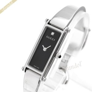 グッチ GUCCI レディース腕時計 1500 1Pダイヤ ブラック YA015555 [在庫品]|brandol