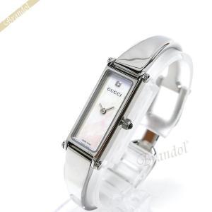 グッチ GUCCI レディース腕時計 1500 バングルウォッチ ダイヤモンド ホワイト×シルバー YA015561 [在庫品]|brandol