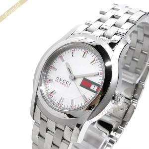 グッチ GUCCI メンズ腕時計 Gクラス 38mm 自動巻き ホワイト×シルバー YA055205 [在庫品]|brandol