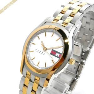 グッチ GUCCI メンズ腕時計 Gクラス 35mm ホワイト×ゴールド×シルバー YA055313 [在庫品] brandol