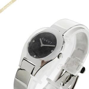 グッチ GUCCI レディース腕時計 6700 バングルウォッチ 26mm ブラック×シルバー YA067505 [在庫品] brandol