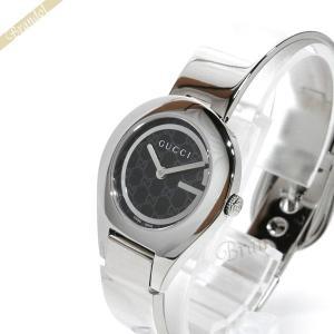 グッチ GUCCI レディース腕時計 6700 バングルウォッチ 26mm ブラック×シルバー YA067508 [在庫品]|brandol
