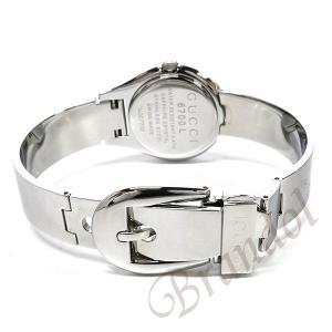 09b51f42d827 ... グッチ GUCCI レディース腕時計 6700 バングルウォッチ 26mm ブラック×シルバー YA067508 [在庫品]