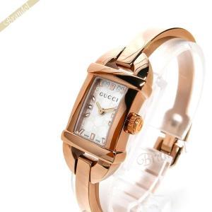 19ad1c30464b グッチ GUCCI レディース腕時計 6800 バングルウォッチ ホワイトシェル×ピンクゴールド YA068584 [在庫品]