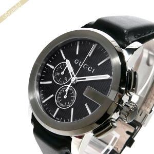 グッチ GUCCI メンズ 腕時計 Gタイムレス クロノグラフ 44mm ブラック YA101205 [在庫品]|brandol
