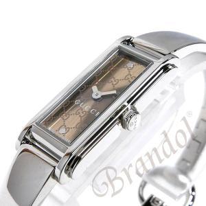 ac1b59e2b6e9 ... グッチ GUCCI レディース レディース腕時計 Gライン バングルウォッチ ブラウン×シルバー YA109529 [在庫品 ...