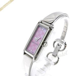 グッチ GUCCI レディース腕時計 Gライン バングルウォッチ ピンク×シルバー YA109530[在庫品] [在庫品]|brandol