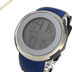 グッチ GUCCI メンズ腕時計 Iグッチ XXL スポーツ ウォッチ デジタル 49mm ブルー YA114105 [在庫品]|brandol