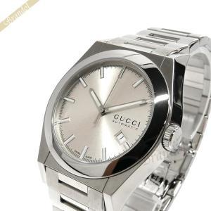 グッチ GUCCI メンズ腕時計 パンテオン オートマチック 39mm 自動巻き ライトゴールド×シルバー YA115202 [在庫品]|brandol