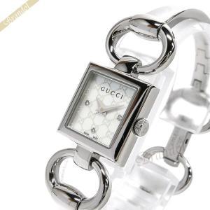 グッチ GUCCI レディース 腕時計 トルナヴォーニ バングルウォッチ ホワイトシェル×シルバー YA120517 [在庫品]|brandol
