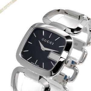 グッチ GUCCI レディース腕時計 Gグッチ スクエア ブラック×シルバー YA125407 [在庫品]|brandol