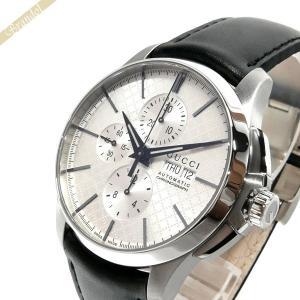 グッチ GUCCI メンズ腕時計 Gタイムレス G-Timeless クロノグラフ 44mm シルバー×ブラック YA126265 [在庫品]|brandol