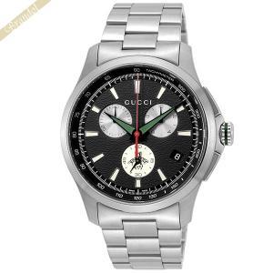 グッチ GUCCI メンズ腕時計 Gタイムレス G-Timeless クロノグラフ 46mm ブラック×シルバー YA126267 [在庫品]|brandol
