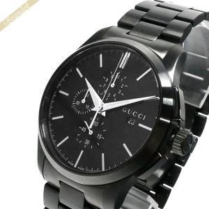 グッチ GUCCI メンズ腕時計 Gタイムレス G-Timeless クロノグラフ 44mm オールブラック YA126274 [在庫品] brandol