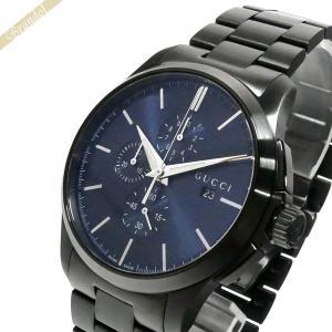 グッチ GUCCI メンズ腕時計 Gタイムレス G-Timeless クロノグラフ 44mm ネイビー×ブラック YA126275 [在庫品] brandol