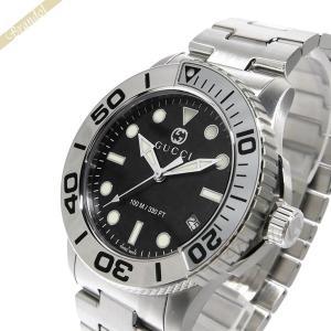 グッチ GUCCI メンズ腕時計 DIVER ダイバー 45mm ブラック×シルバー YA126277|brandol