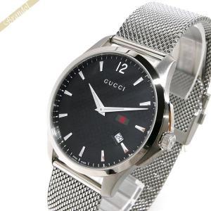 グッチ GUCCI メンズ腕時計 Gタイムレス 40mm ブラック×シルバー YA126308 [在庫品]|brandol
