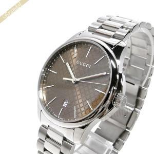グッチ GUCCI メンズ腕時計 Gタイムレス 40mm ブラウン×シルバー YA126317 [在庫品]|brandol