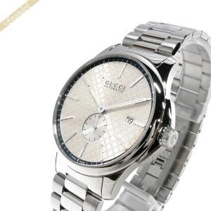 グッチ GUCCI メンズ腕時計 Gタイムレス 40mm 自動巻き シルバー YA126320 [在庫品]|brandol