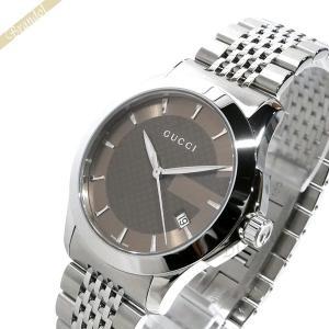 グッチ GUCCI メンズ腕時計 Gタイムレス 38mm ブラウン YA126406 [在庫品]|brandol