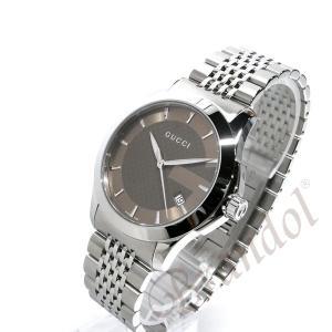 グッチ GUCCI メンズ腕時計 Gタイムレス 38mm ブラウン YA126406 [在庫品]|brandol|02