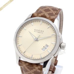 グッチ GUCCI メンズ腕時計 Gタイムレス 38mm 自動巻き アイボリー YA126421 [在庫品]|brandol