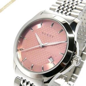 グッチ GUCCI レディース腕時計 Gタイムレス G-Timeless 38mm ピンク×シルバー YA126429 [在庫品]|brandol